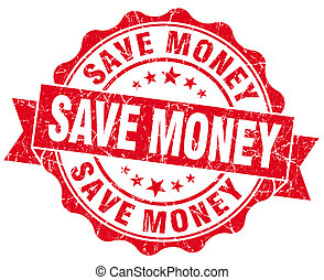 Save Money Grunge Stamp