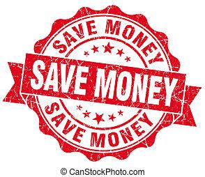 Save Money Grunge Stamp