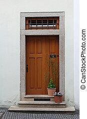 legno, scale, fiore, porta, Otri