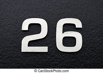 number twenty-six, house address plate number