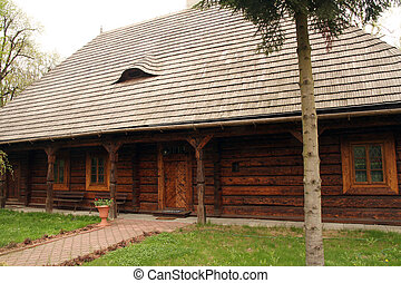 traditional old wooden house in Poland