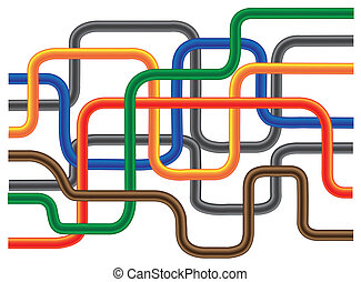 Abstract Tube - Abstract color tube like on solid background...