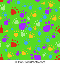Bright pet seamless pattern - Eps 10 vector bright colorful...