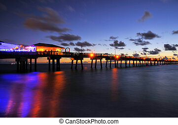 Rainbows and Stars - Sunrise at the Dania Beach Pier in Ft...