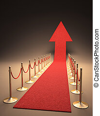 Rising Fame - Red carpet arrow-shaped up Your text next to...