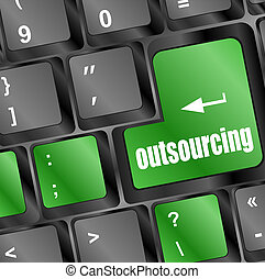 outsourcing button on computer keyboard key