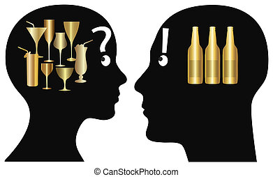 Couple deciding what to drink