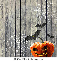 Halloween Party Background with Pumpkin
