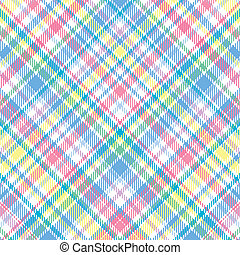 Pastel Plaid - A plaid background pattern in pastel colors