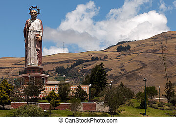 Monument to Saint Peter in Alausi, Ecuador - Monument to...