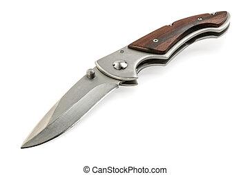 pocket knife - folding pocket knife on a white background