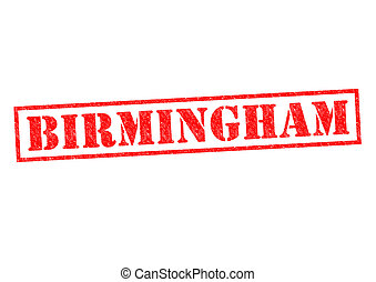BIRMINGHAM Rubber Stamp over a white background.