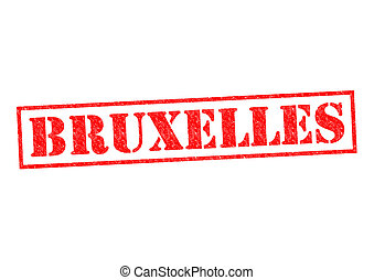 BRUXELLES Rubber Stamp over a white background