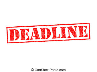 DEADLINE Rubber Stamp over a white background.