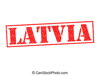 LATVIA Rubber Stamp over a white background.