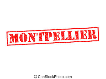 MONTPELLIER Rubber Stamp over a white background