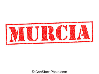 MURCIA Rubber Stamp over a white background