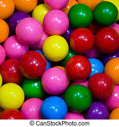 Gumballs - Closeup of multicolored gumballs
