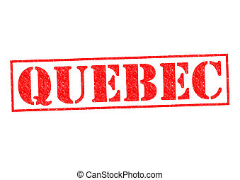 QUEBEC Rubber Stamp over a white background.