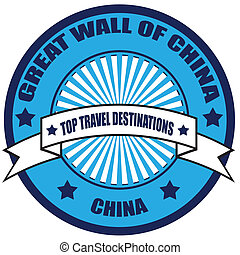 Top Travel Destinations-China - Label with text Top Travel...