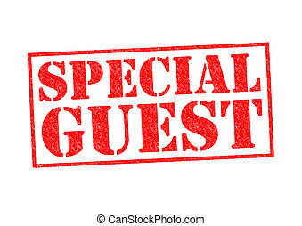 SPECIAL GUEST Rubber Stamp over a white background