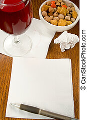 Cocktail Napkin Ideas - Ideas, charts, innovation on a...
