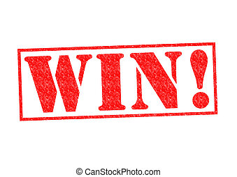WIN! Rubber Stamp