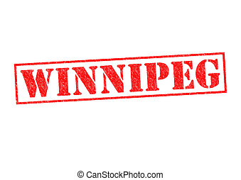 WINNIPEG Rubber Stamp over a white background