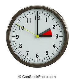 Daylight Saving Time - round clock which transfer the arrows...