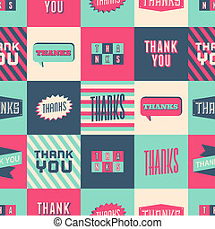 Thank You Seamless Pattern - Seamless Thank You pattern with...
