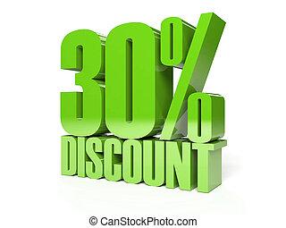 30 percent discount. - 30 percent discount. Green shiny...