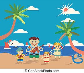 Hawaiian Family