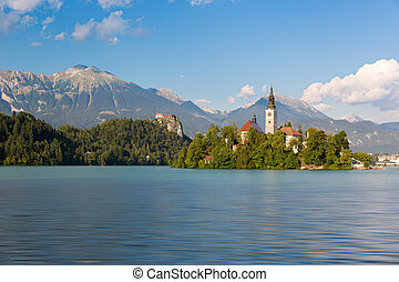 Lake Bled with Bled island, Slovenia