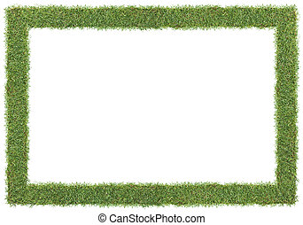 grass frame - frame and borders form by green grass