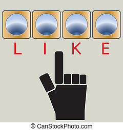 Like Button - Like buttons concept on vector