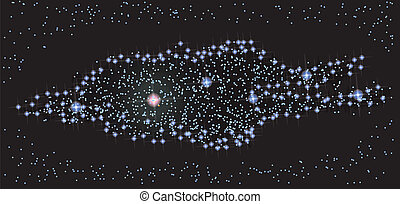 Milky Way Galaxy from Top - Abstract vector science image :...