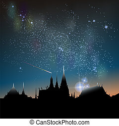 Milky Way Constellation - Abstract vector science image of...