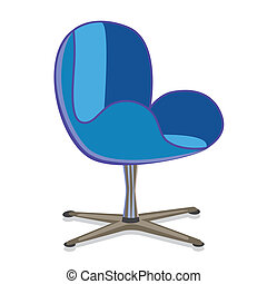 Modern Armchair - Modern rotatable seat office armchair