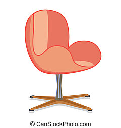 modernArmchair3 - Modern rotatable seat office armchair