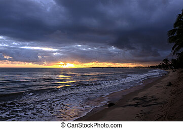 Brazil, Pititinga, beach at sunrise - Brazil, RN, Pititinga,...