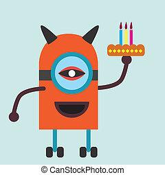 Robot Brithday Cake