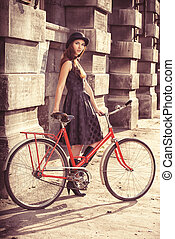 bicycle and a girl