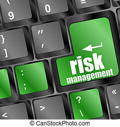 Pojęcie, ryzyko, Klawiatura, guzik, kierownictwo,  Internet
