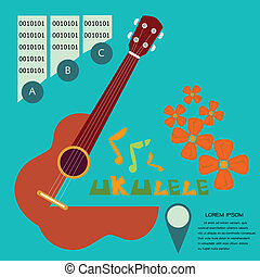 uKulele1[green] - Prepress music poster concept illustrated...