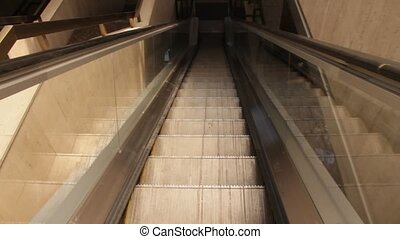 Escalator moving down