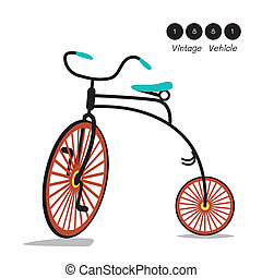 Vintage Velocipede Bicycle - Vintage velocipede bicycle...