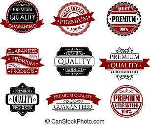 Set of labels for design