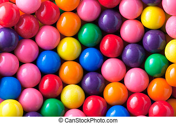 Gumballs - Background photo of multicolored gumballs