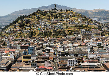 El Panecillo in Quito, Ecuador - El Panecillo is a hill...