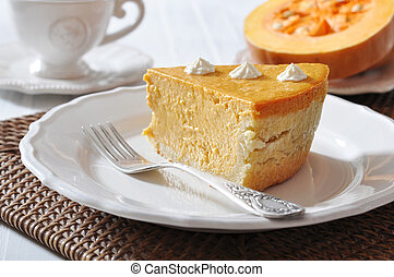 Homemade Pumpkin Pie - Fresh Homemade Pumpkin Pie with...
